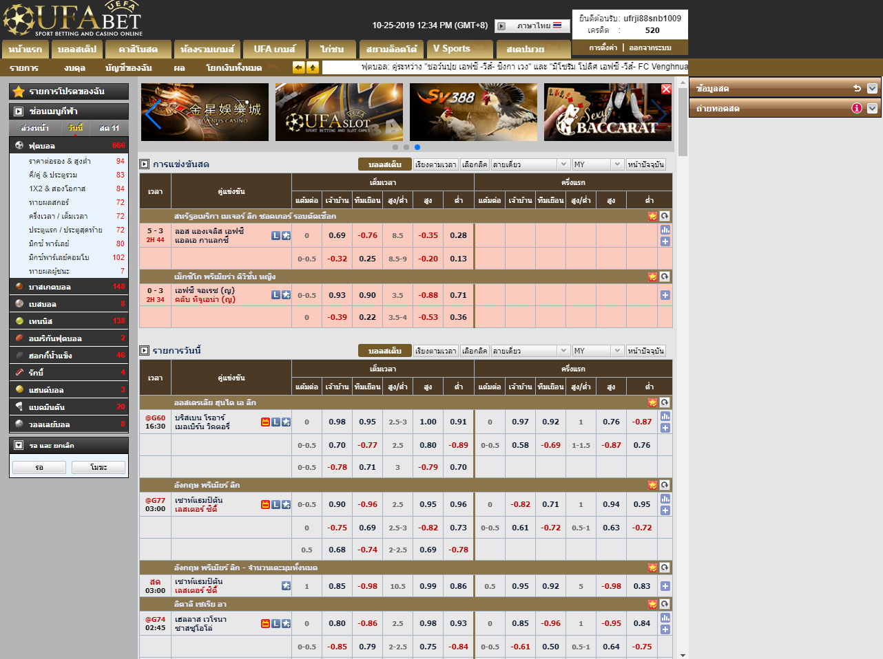 Select UFABET gambling Service